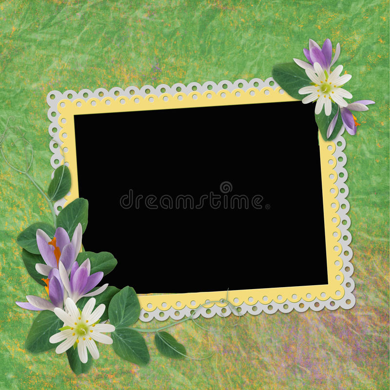 Rahmen für Foto oder Glückwunsch lizenzfreie abbildung