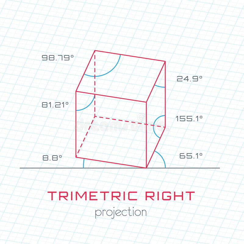 Rahmen-Gegenstand In Der Axonometric Perspektive - Trimetrisch ...