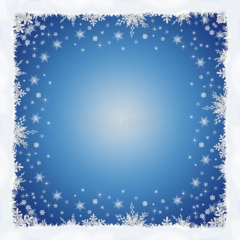 Rahmen Von Schneeflocken Für Frohe Weihnachten Stock Abbildung ...