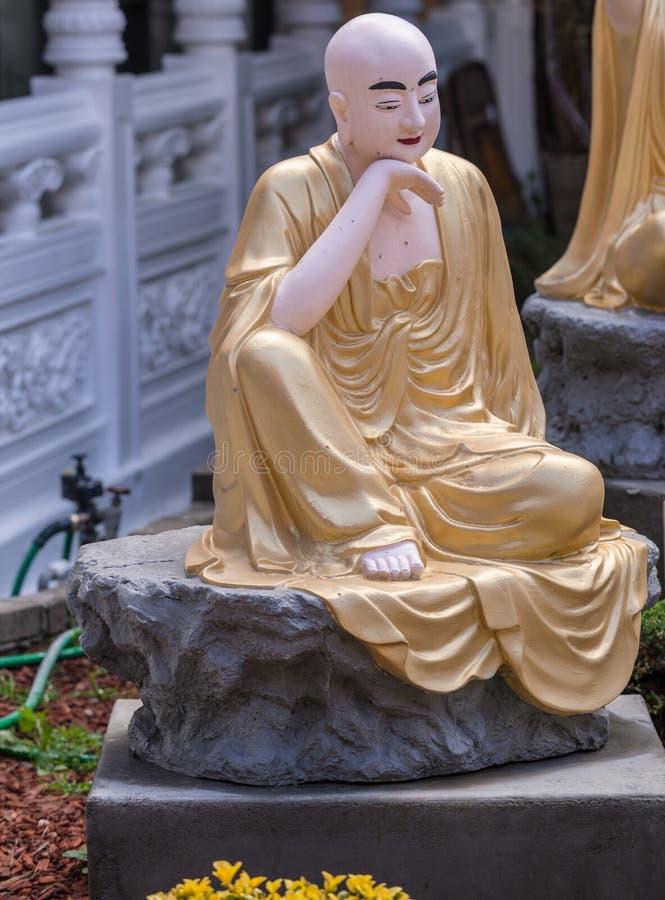 Rahula στον κήπο Arhat στο βουδιστικό ναό Lai του, Καλιφόρνια στοκ εικόνα
