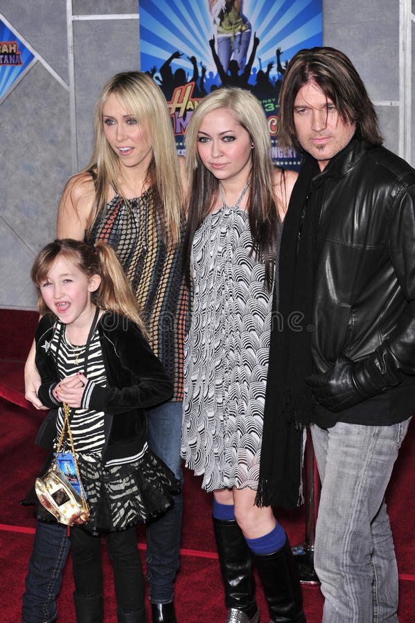 Raia Cyrus de Billy, Hannah Montana, Miley Cyrus fotografia de stock royalty free