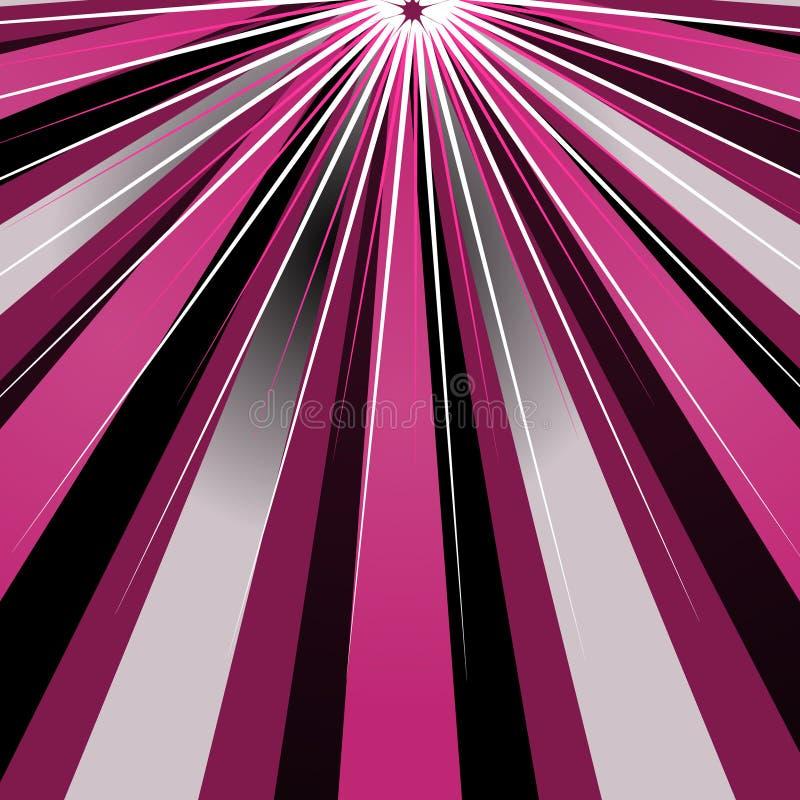 Raias abstratas do sol ilustração do vetor