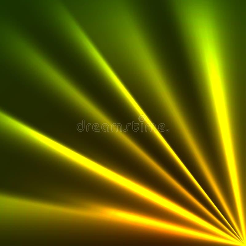 Raias amarelas e verdes ilustração stock