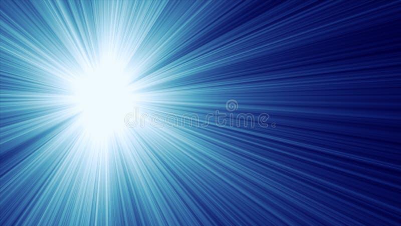 Raias claras azuis ilustração stock