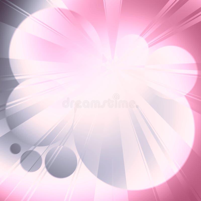 Raias claras e fulgor cor-de-rosa azul ilustração royalty free