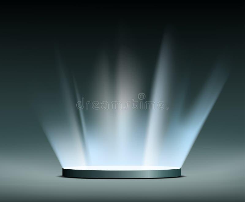 Raias de luz hologram ilustração royalty free