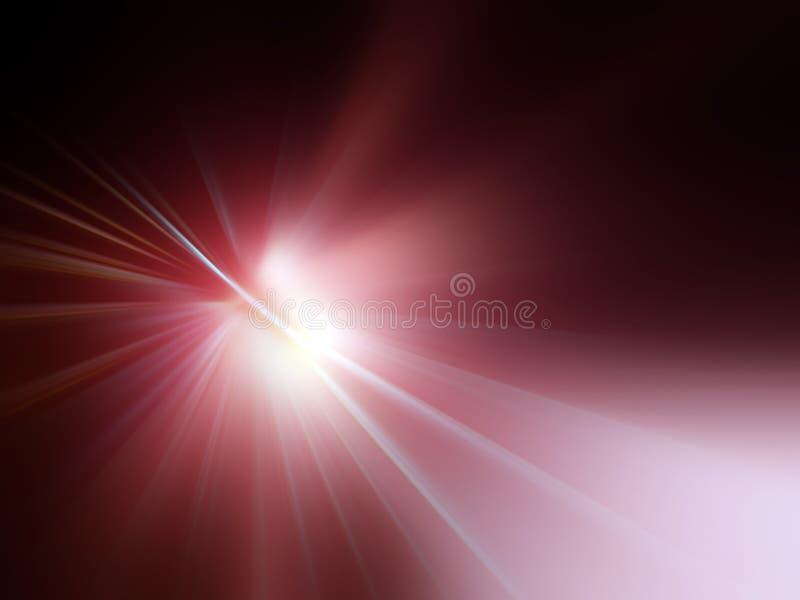 Raias de luz vermelhas