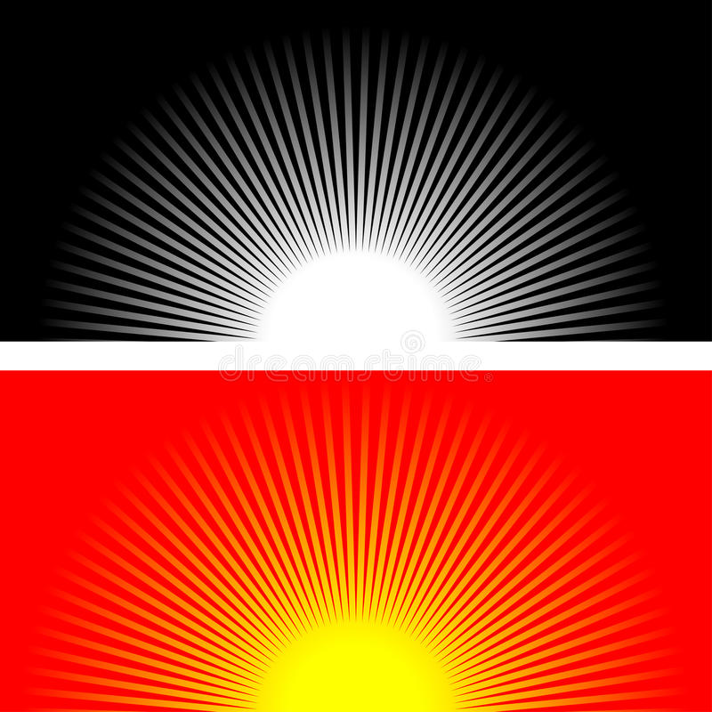 Raias de Sun ilustração royalty free