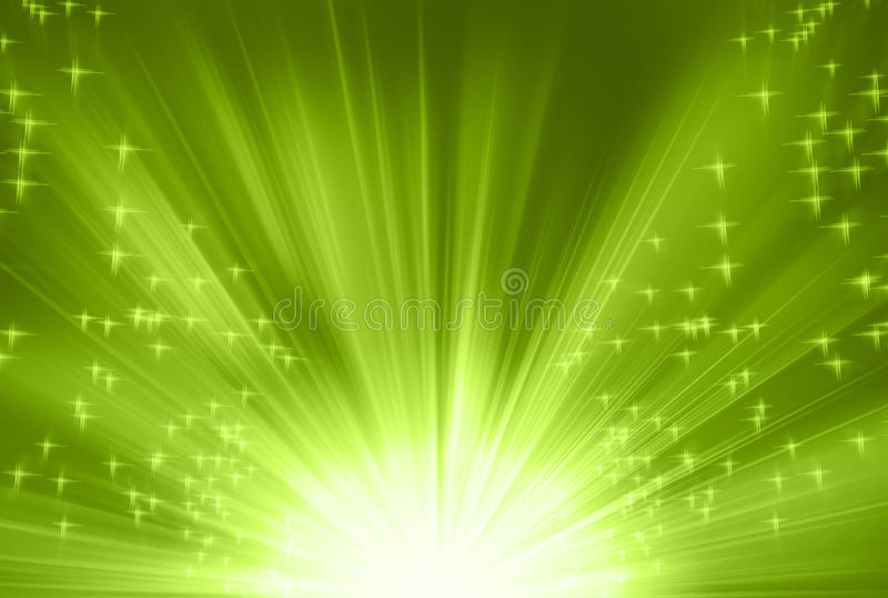 Raias verdes ilustração do vetor