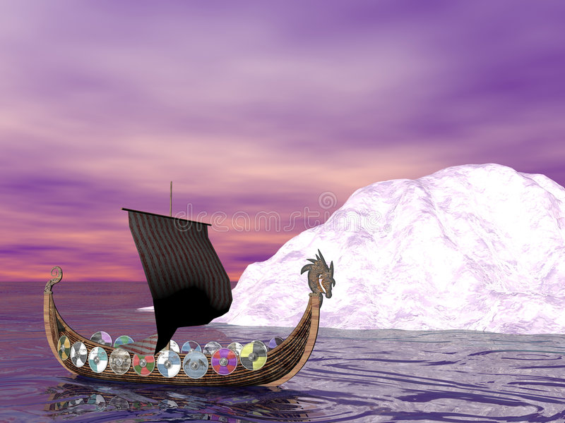 Raider di Drakkar illustrazione di stock