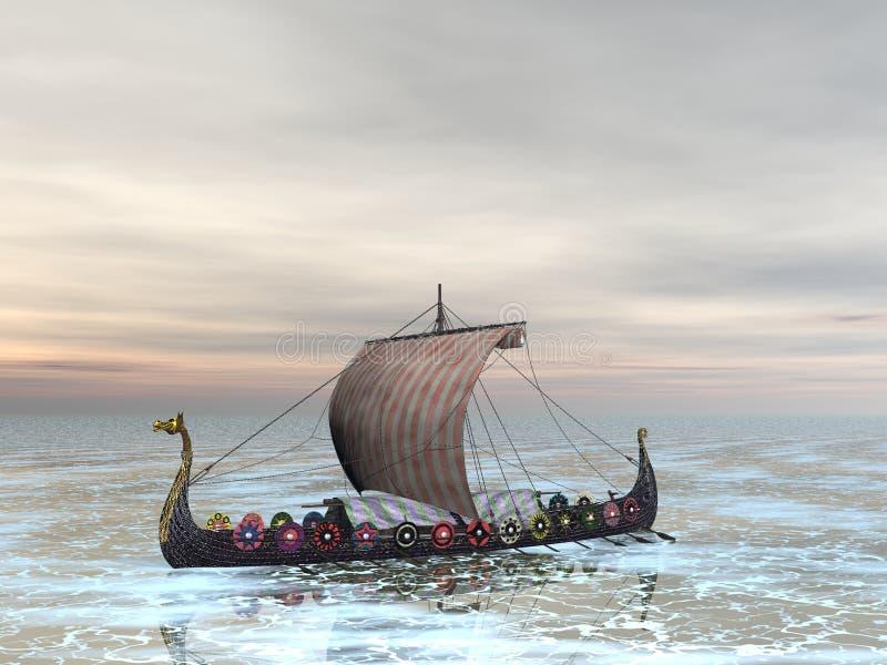 Raider van Viking stock illustratie
