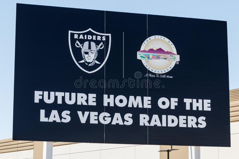 Raiders nieuwe praktijkfaciliteit Raiders beginnen met spel in Las Vegas in 2020 I stock afbeeldingen
