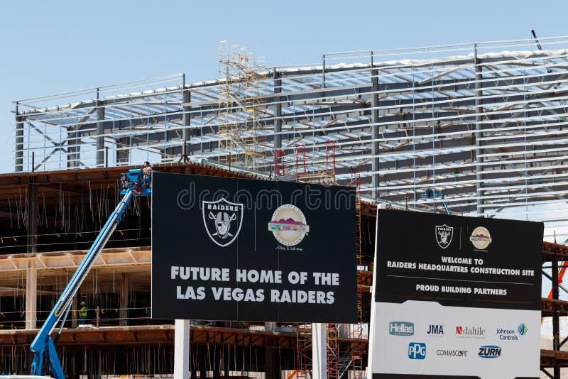 Raiders nieuwe praktijkfaciliteit Raiders beginnen met spel in Las Vegas in 2020 II stock fotografie