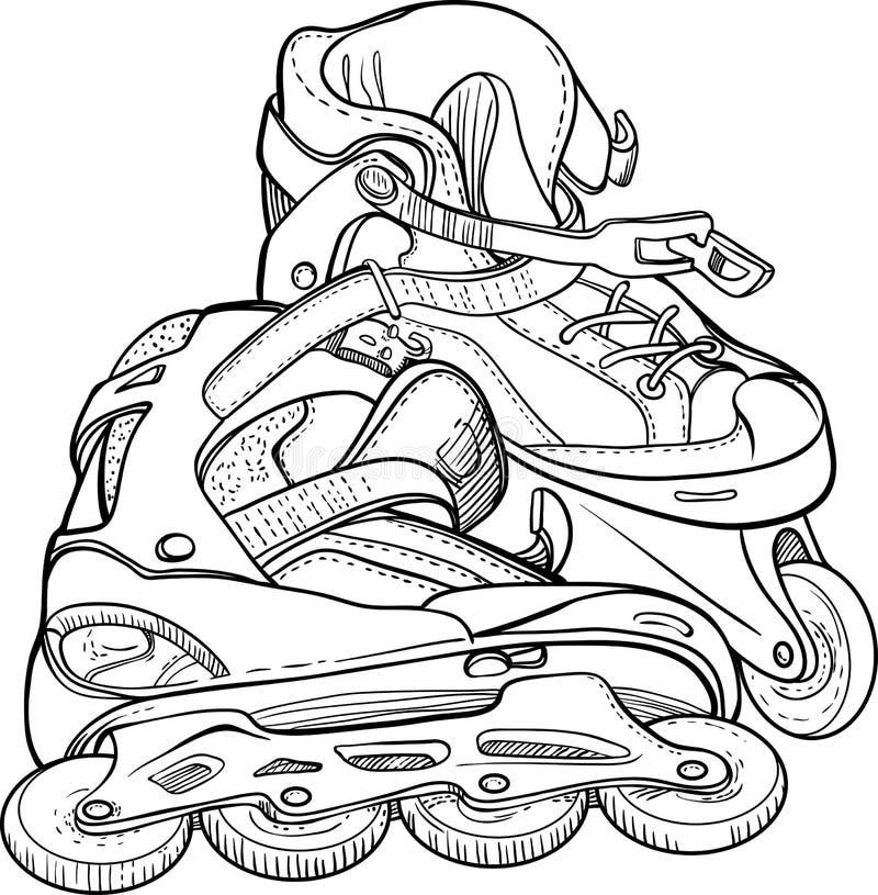 Raies de rouleau de patinage illustration libre de droits