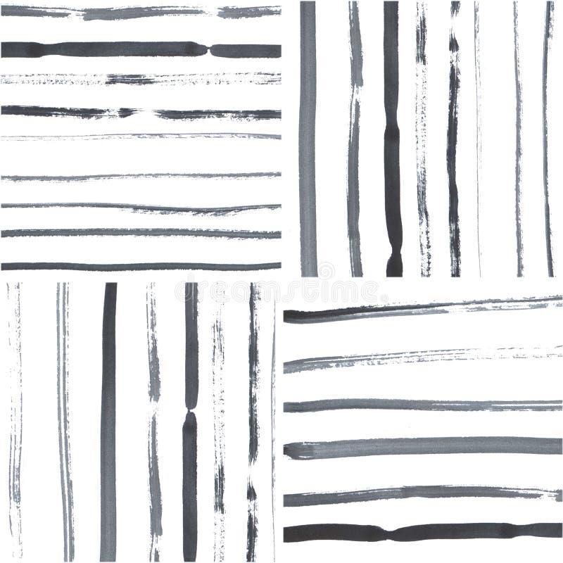raies Fond d'illustration de dessin de main d'aquarelle Retrait de main illustration stock