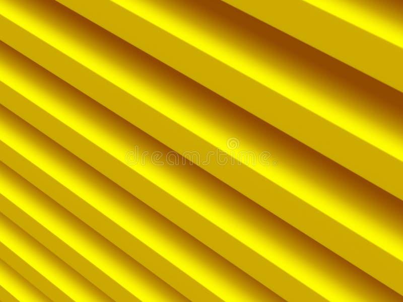 raies Modèle abstrait jaune pour illustration libre de droits