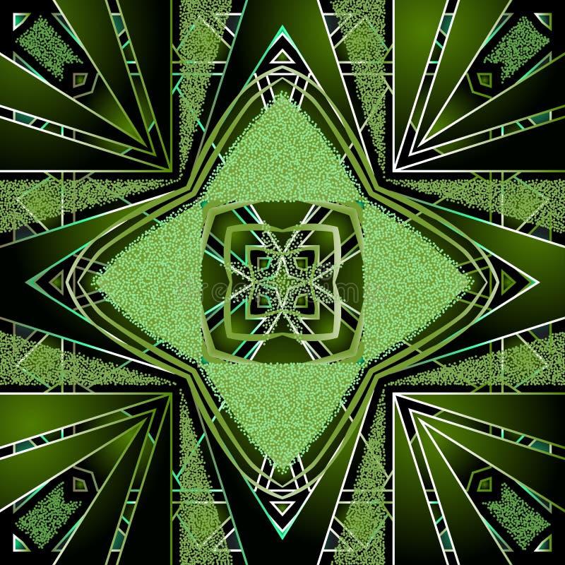Raies radiales géométriques vectorielles transparentes Fond abstrait texturé Arrière-plan de la répétition moderne illustration libre de droits