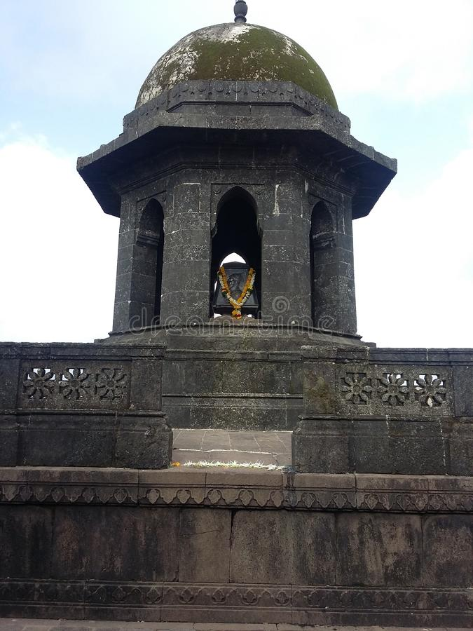 raigad Fort, Maharashtra, Indien stockbild