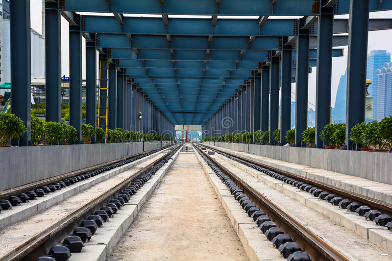 Rail(A bus running on the tracks). Guangzhou, Chinas first a trolley lines open operation 2014, which marks the tram as the third set of public royalty free stock images