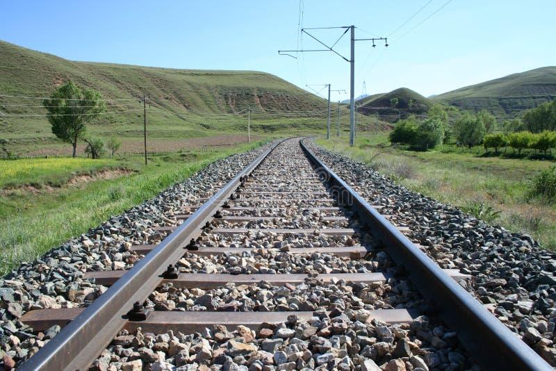 Rail. Train rail way stock photos