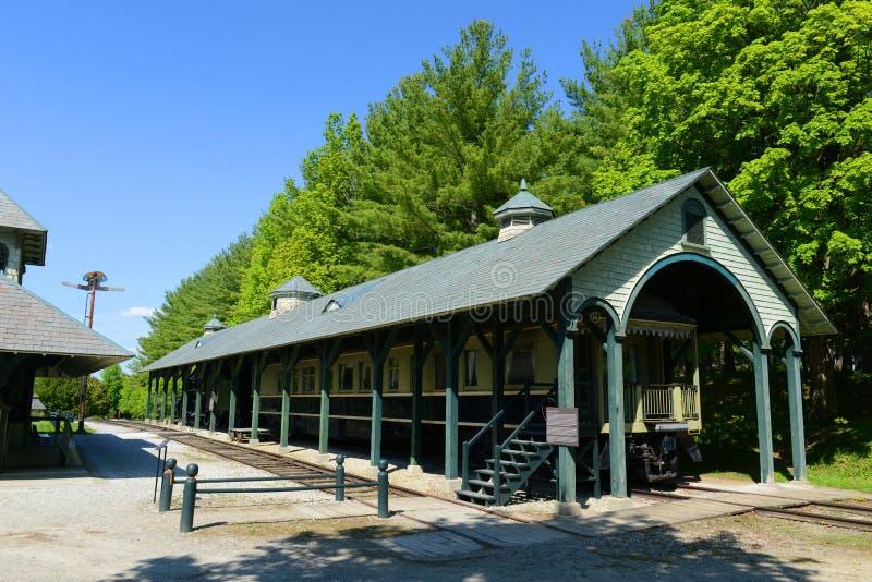 Rail Car Grand Isle, Vermont, USA royalty free stock image