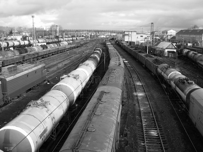 Rail cars royalty free stock images