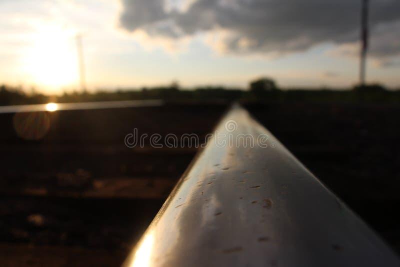 Rail de chemin de fer images stock