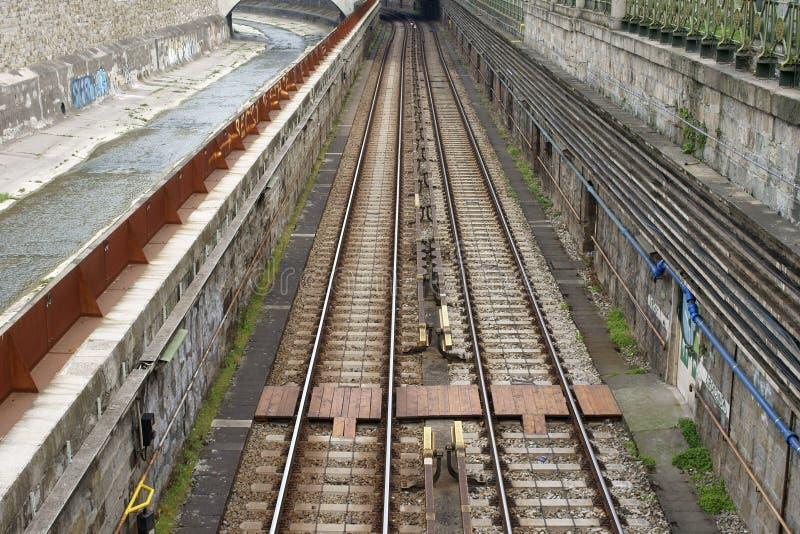 Rail de tram images stock