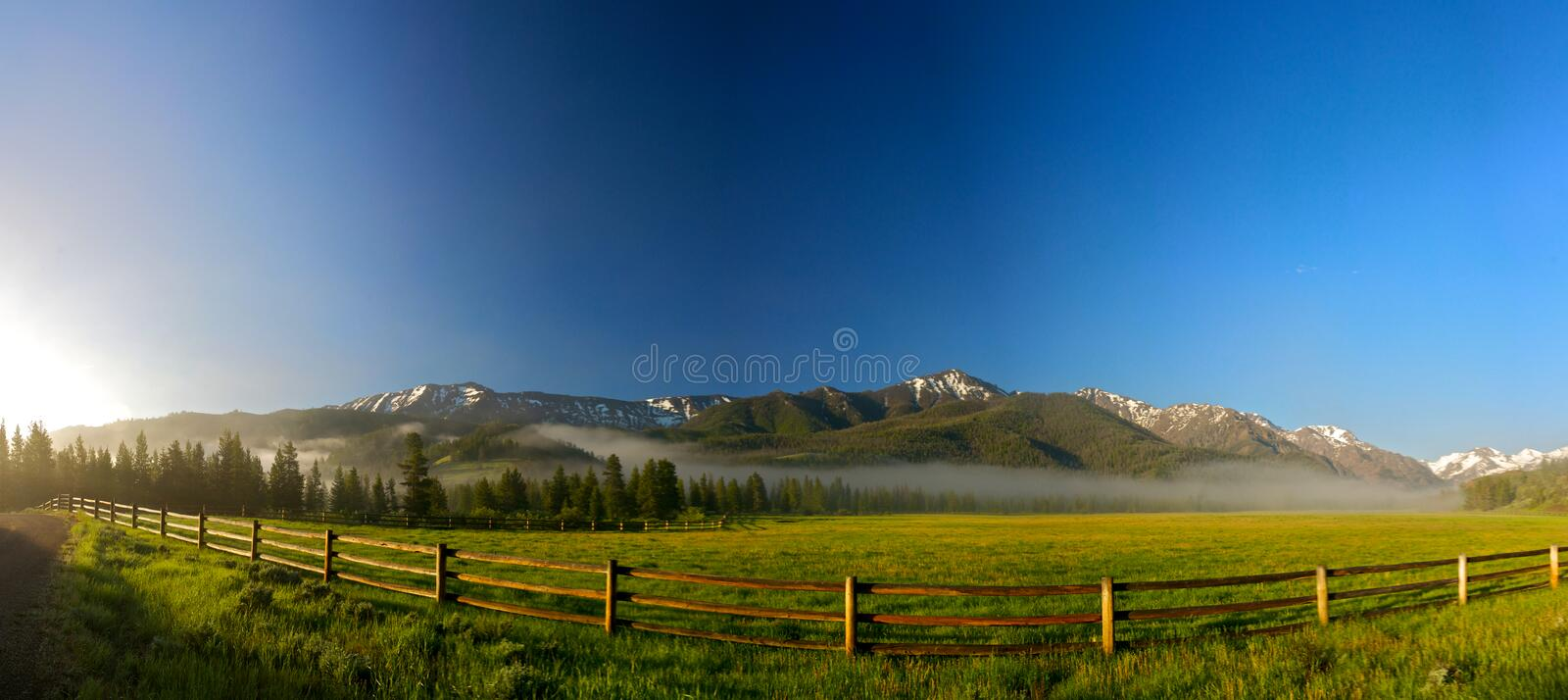 Download Rail Fence For Wyoming Ranch Royalty Free Stock Images - Image: 23084069