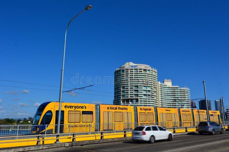 Rail G - Australie de lumière de la Gold Coast du Queensland photos stock