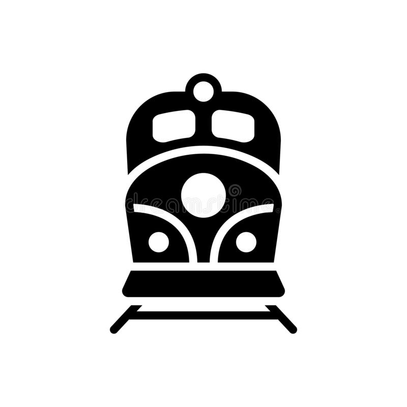 Black Solid Icon For Rail Engine And Speed Stock Vector Illustration Of Logotype Logo 165608588