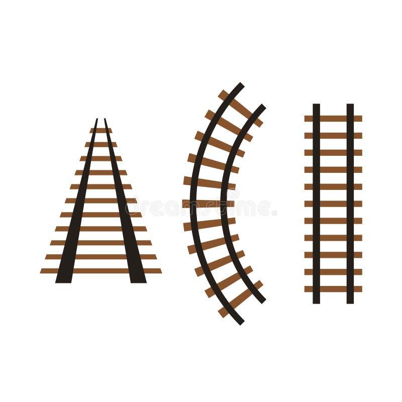 Rail icon set. Isolated on white back royalty free illustration