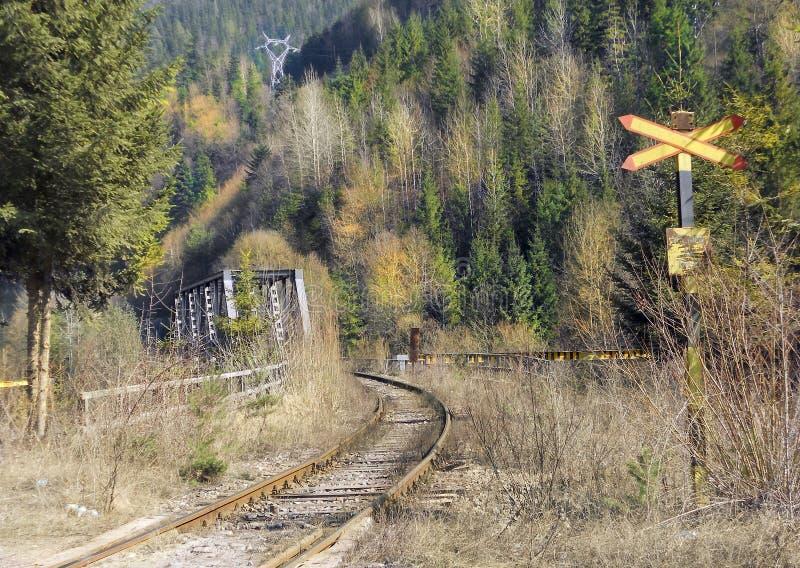 Rail industriel Bicaz - Bicaz Chei image stock