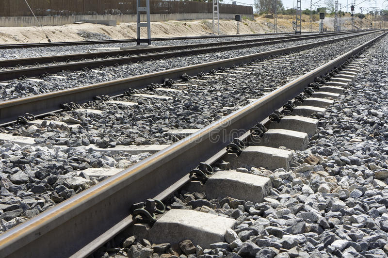 Download Rail road stock photo. Image of linear, straight, road - 26649134