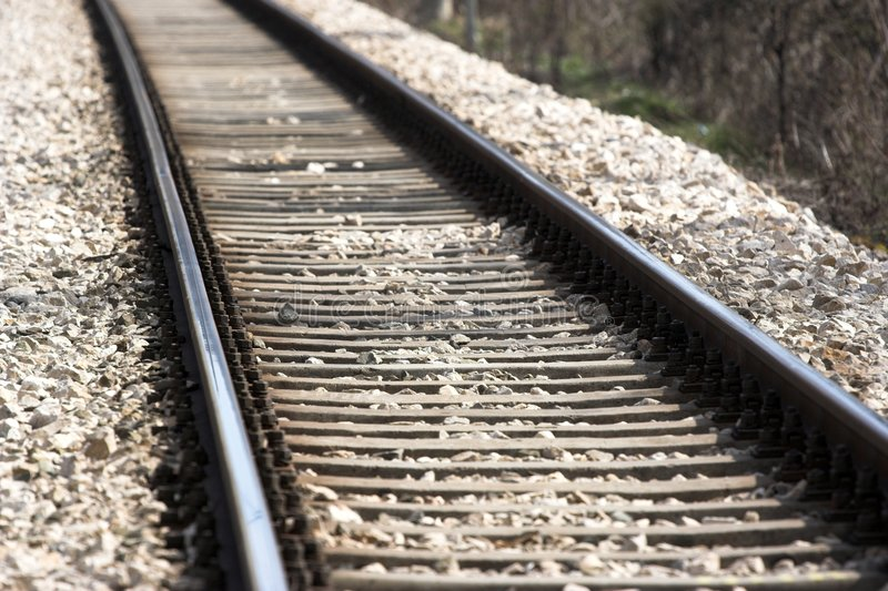 Rail road stock photo