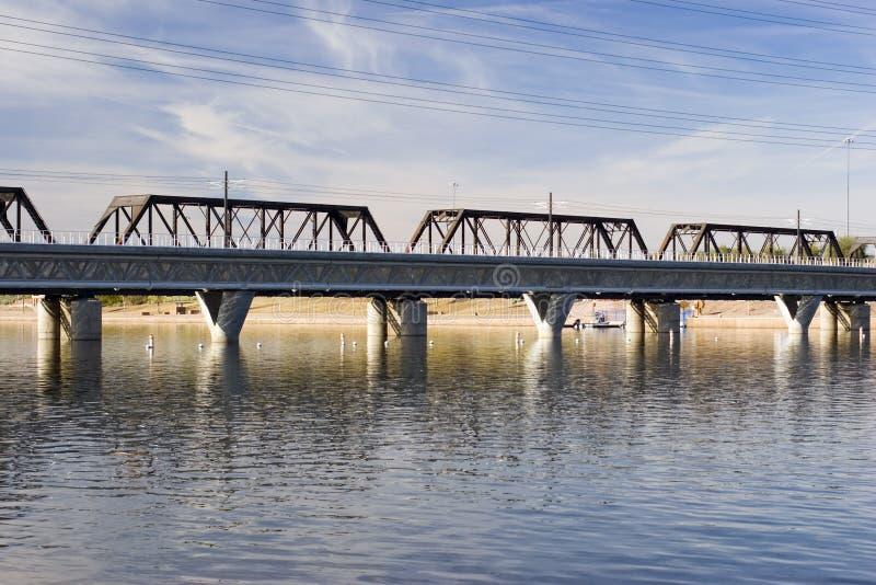 Rail Road Bridge, Tempe, AZ stock photography