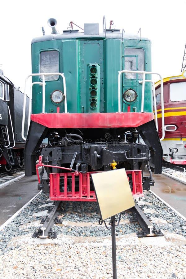 Rail road locomotive. Photo of Russian rail road locomotive stock photo