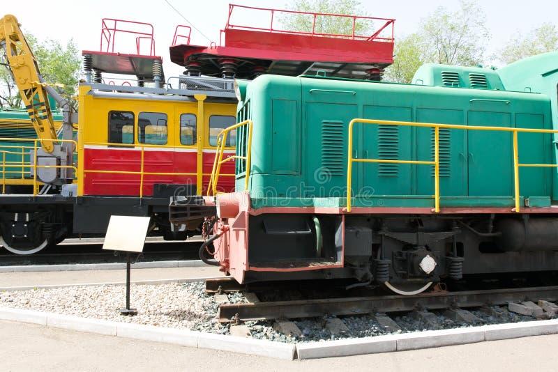 Rail road locomotive. Photo of Russian rail road locomotive in Samara royalty free stock photography