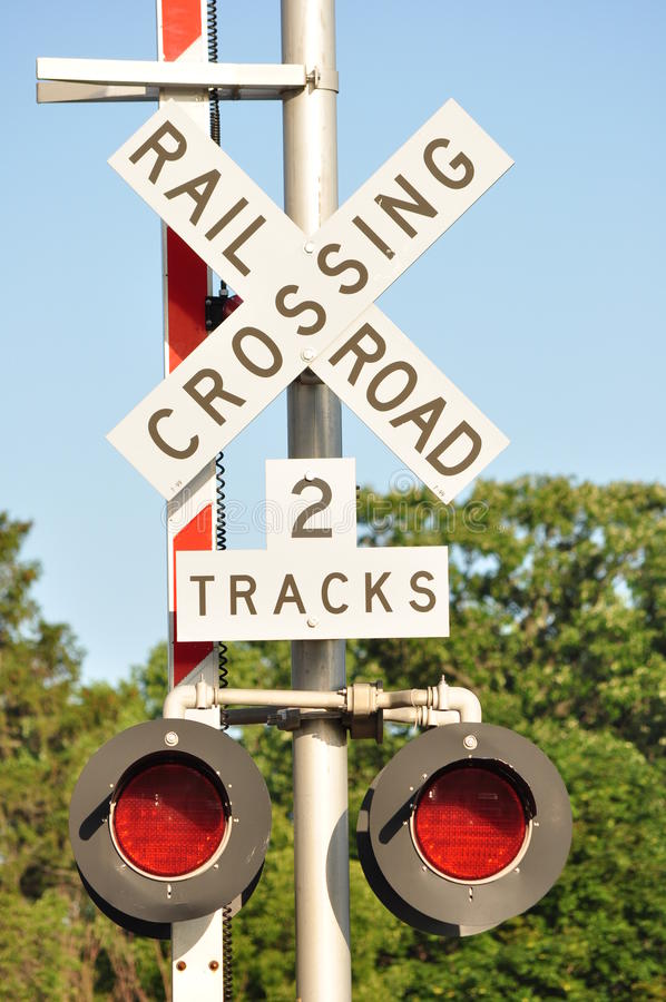 Rail road sign stock images