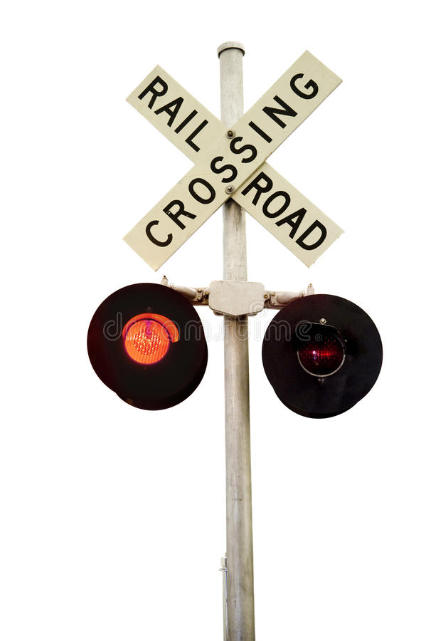 Download Rail Road Signal stock photo. Image of blinking, sign - 12083054