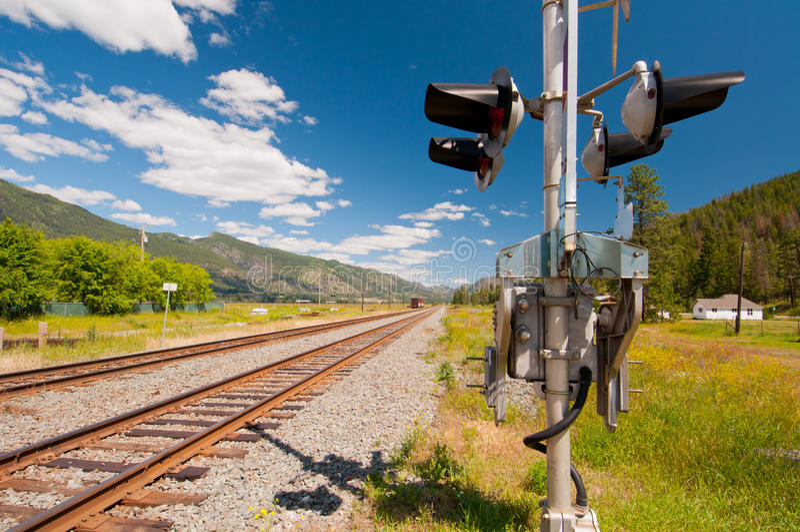 Download Rail signal stock image. Image of railway, signal, green - 21740099
