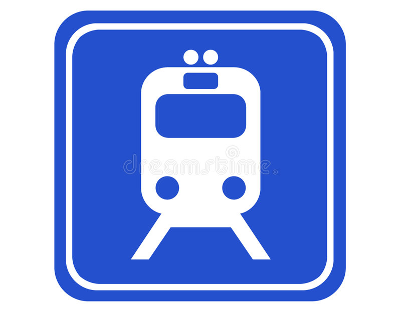 Rail station stock illustration