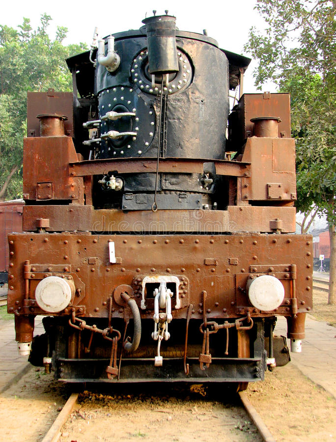 Rail Steam Engine stock photography