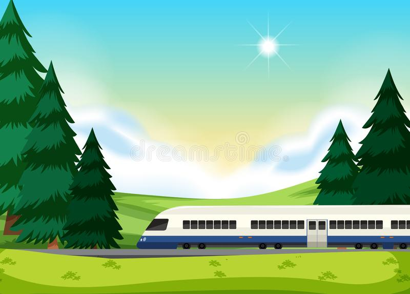A rail to the nature. Illustration vector illustration