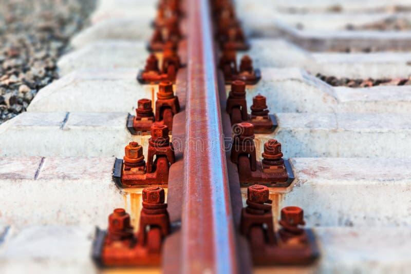 Rail track stock image
