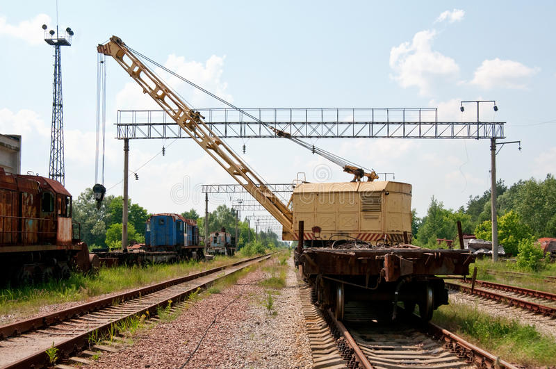 Download A Rail Track Mounted Crane. Stock Image - Image: 20603935