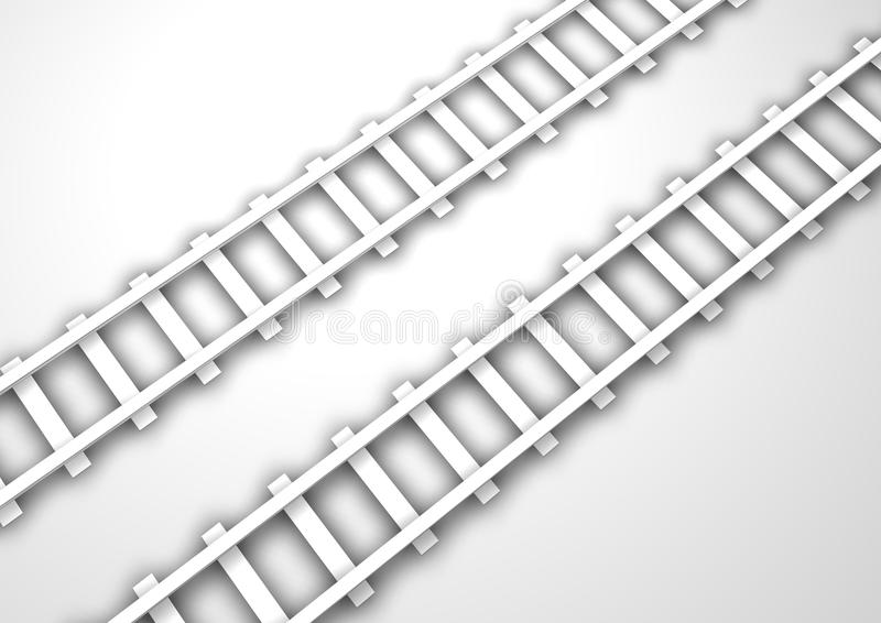 Rail Tracks. Computer Generated Rail Track for background stock illustration