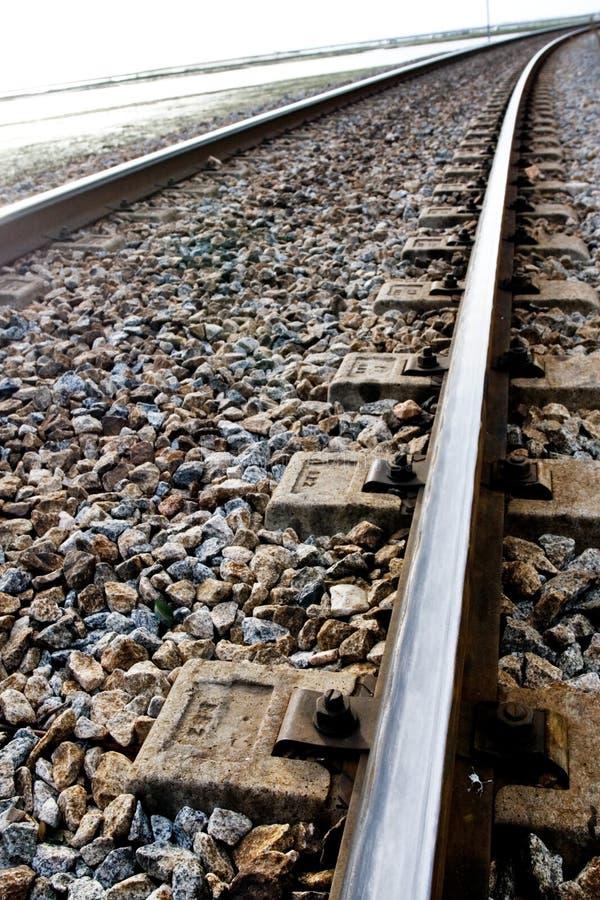 Rail-train. Shiny rail-train with overexpuse background stock photo