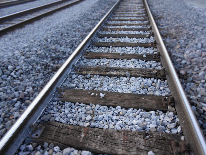 Rail train. Infrastructure in detail stock photography