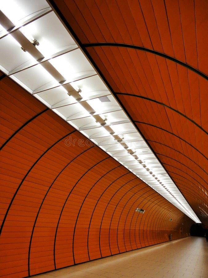 Rail tunnel royalty free stock photo